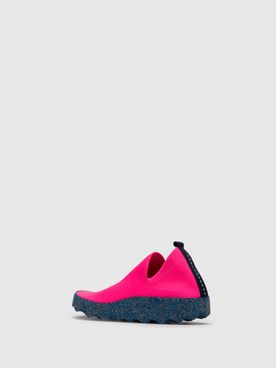 ASPORTUGUESAS Pink Elasticated Trainers