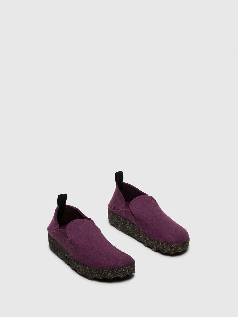 Purple Round Toe Shoes