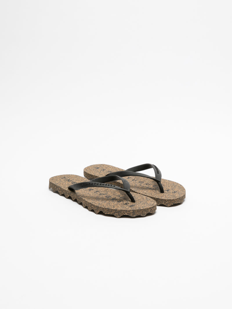Coal Black Thong Flip-Flops