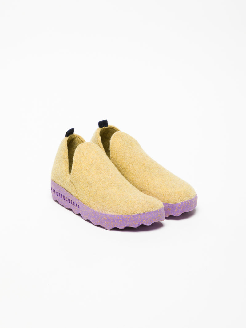 ASPORTUGUESAS Yellow Round Toe Ankle Boots