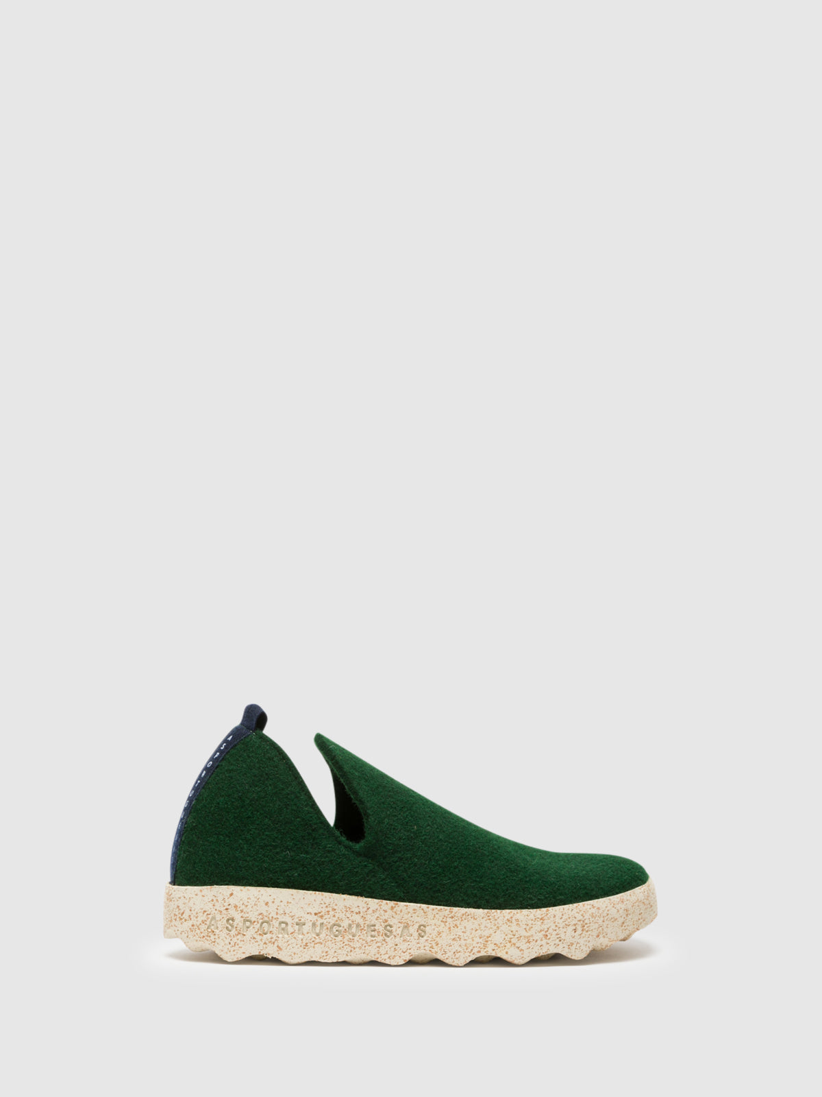 ASPORTUGUESAS Green Round Toe Ankle Boots