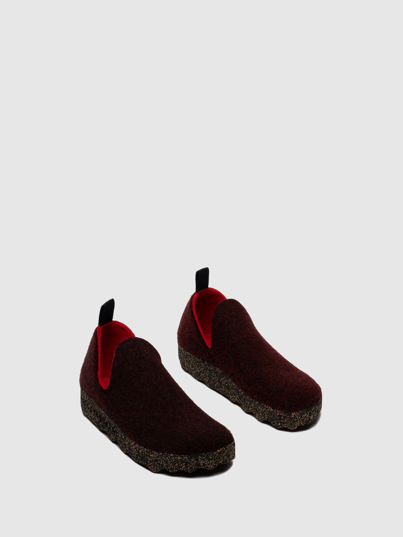 Slip-on Shoes CITY L Merlot