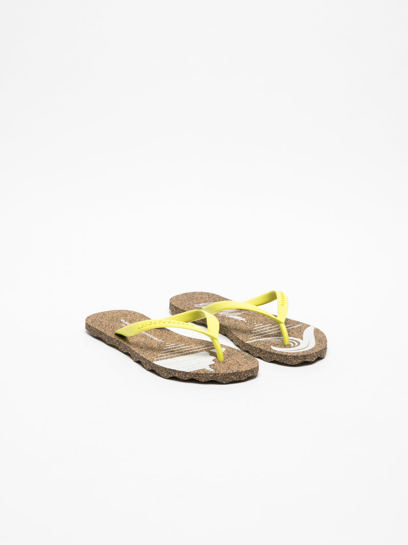 Yellow Thong Flip-Flops