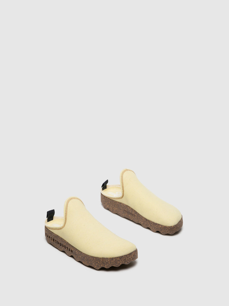 Yellow Closed Mules