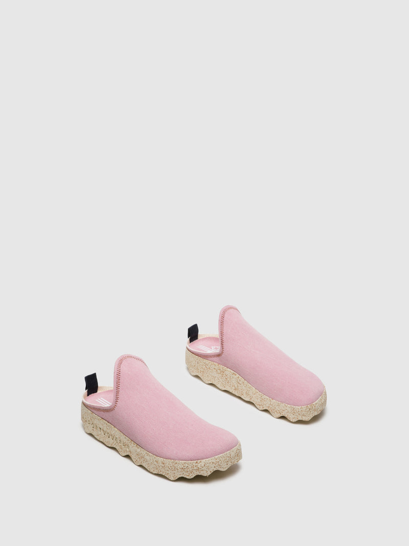 Pink Closed Mules