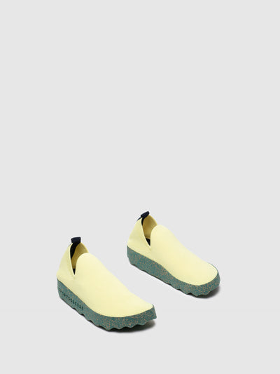 ASPORTUGUESAS Yellow Elasticated Trainers