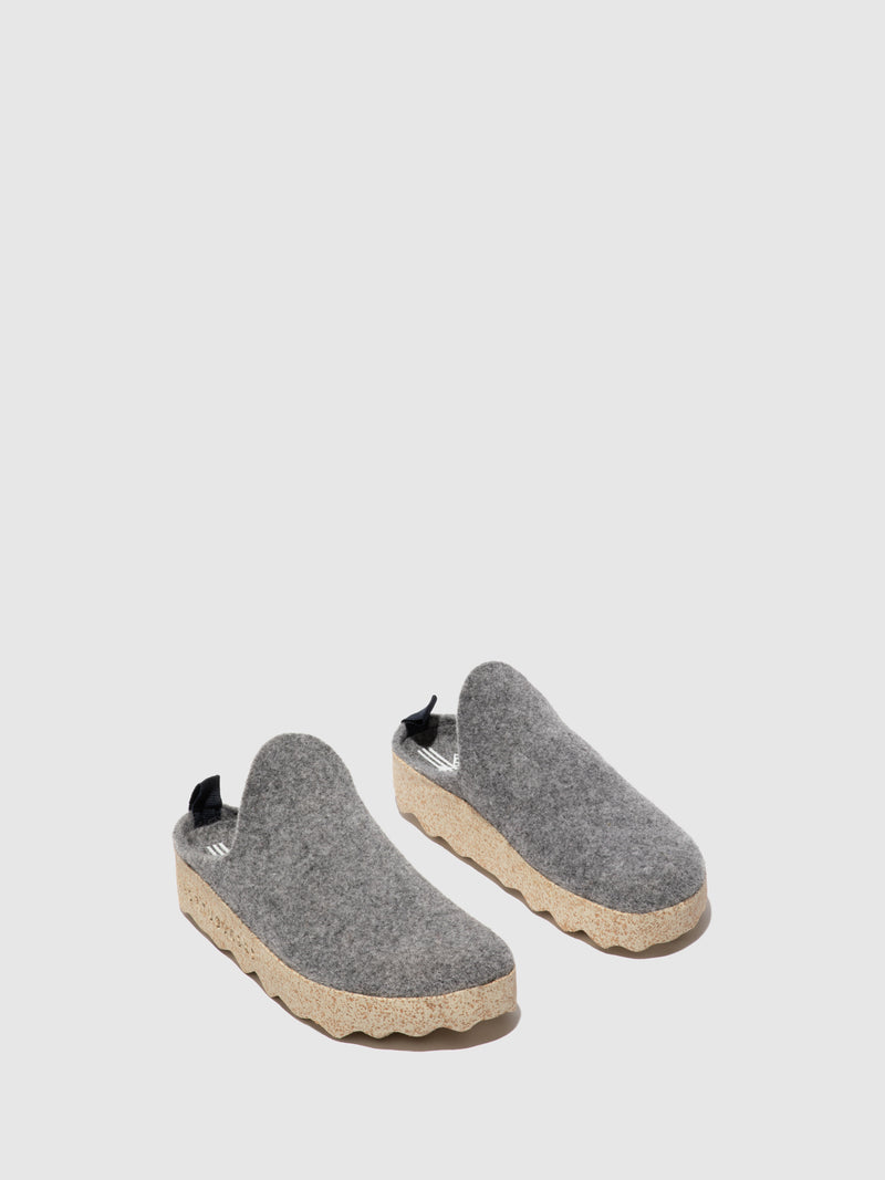 Round Toe Mules COME L Concrete