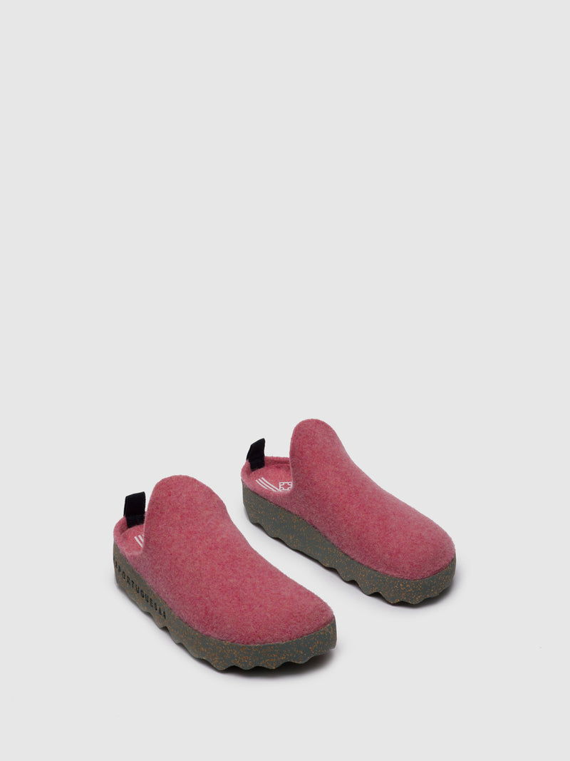 Pink Round Toe Mules