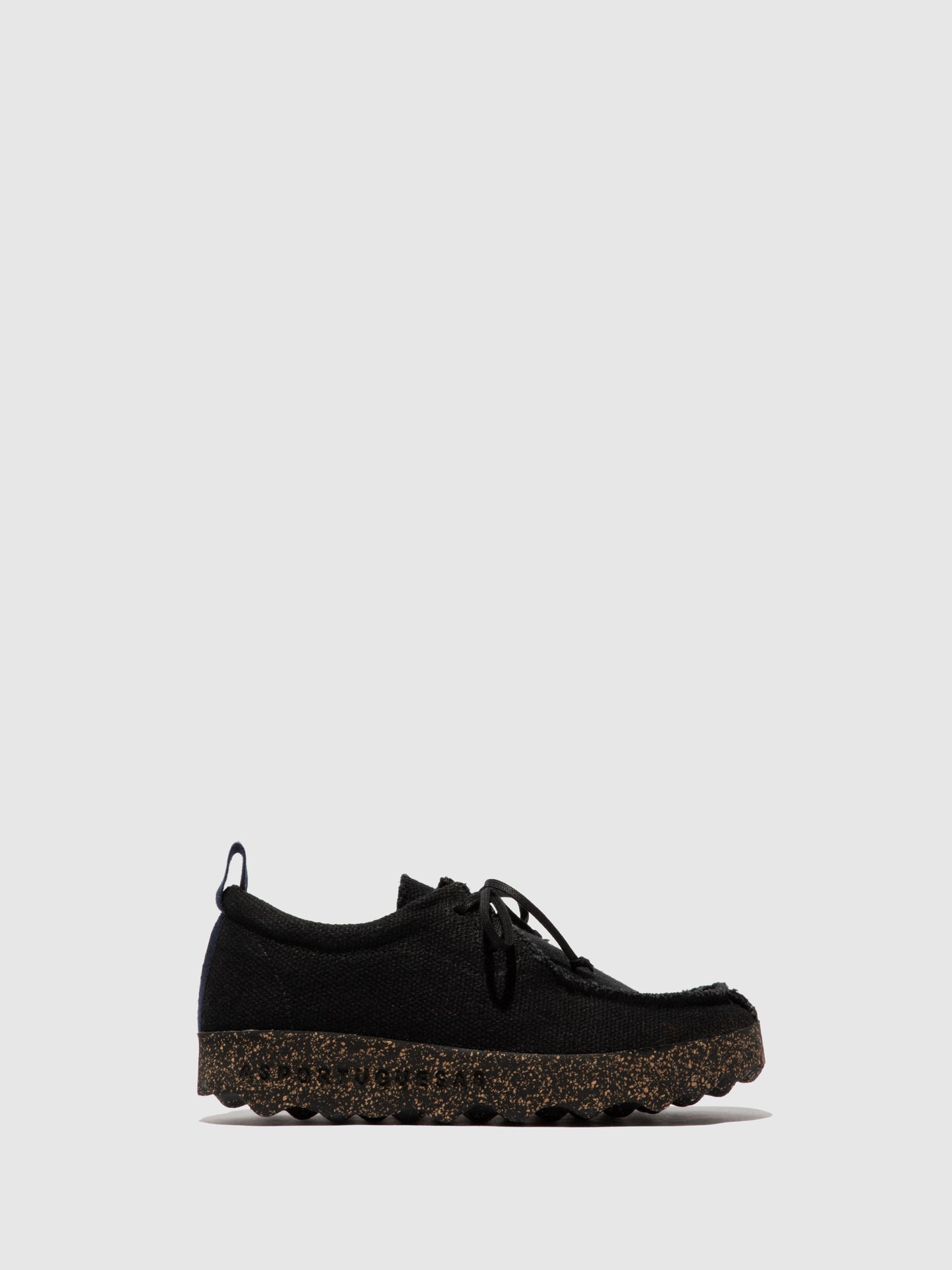 ASPORTUGUESAS Lace-up Trainers CHAT_L Black Recycled Linen