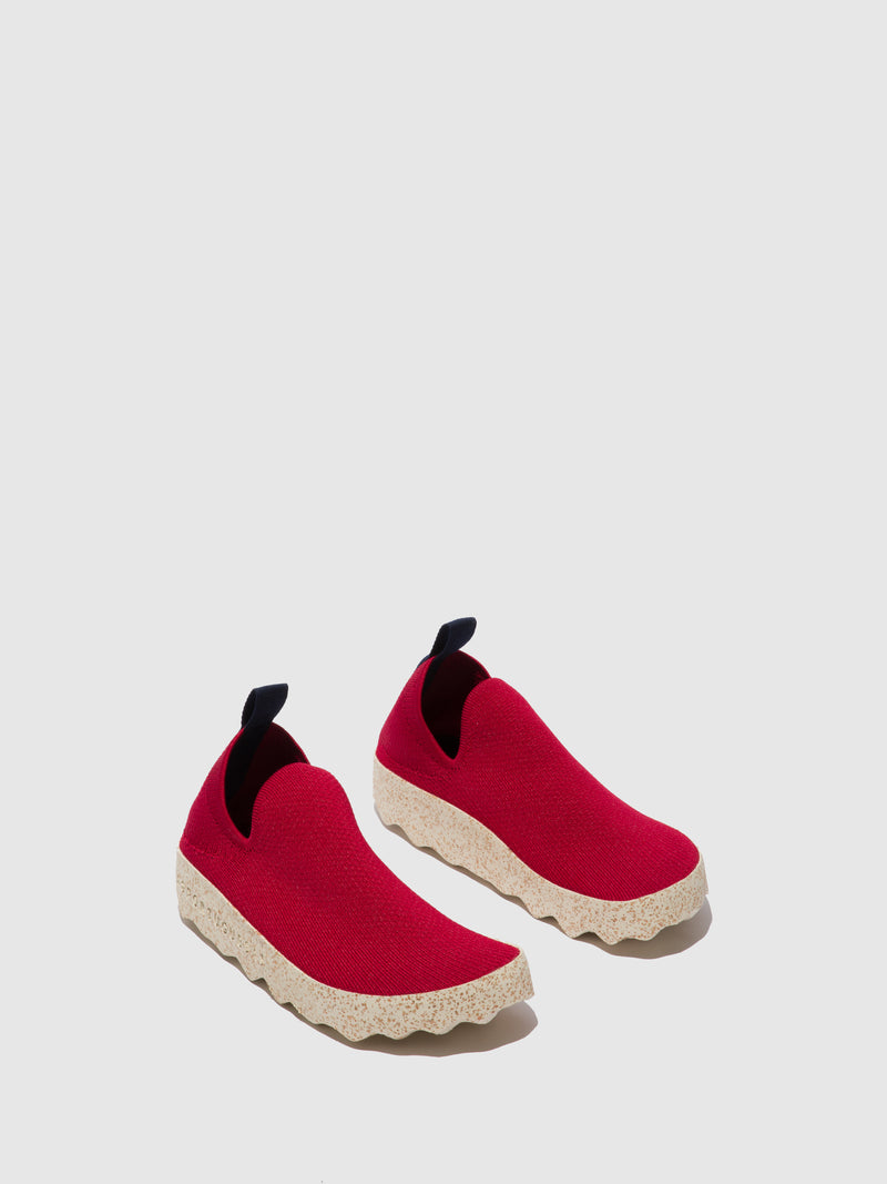ASPORTUGUESAS Elasticated Trainers CARE_M Red S.café Stretch