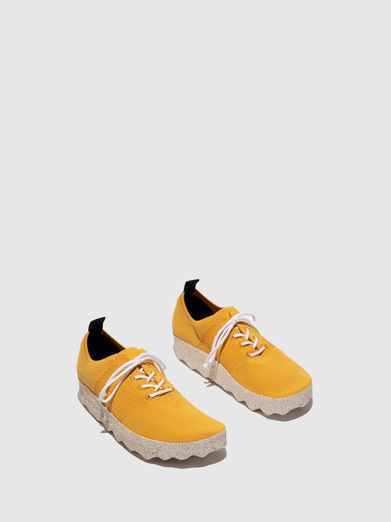 Yellow Elasticated Trainers