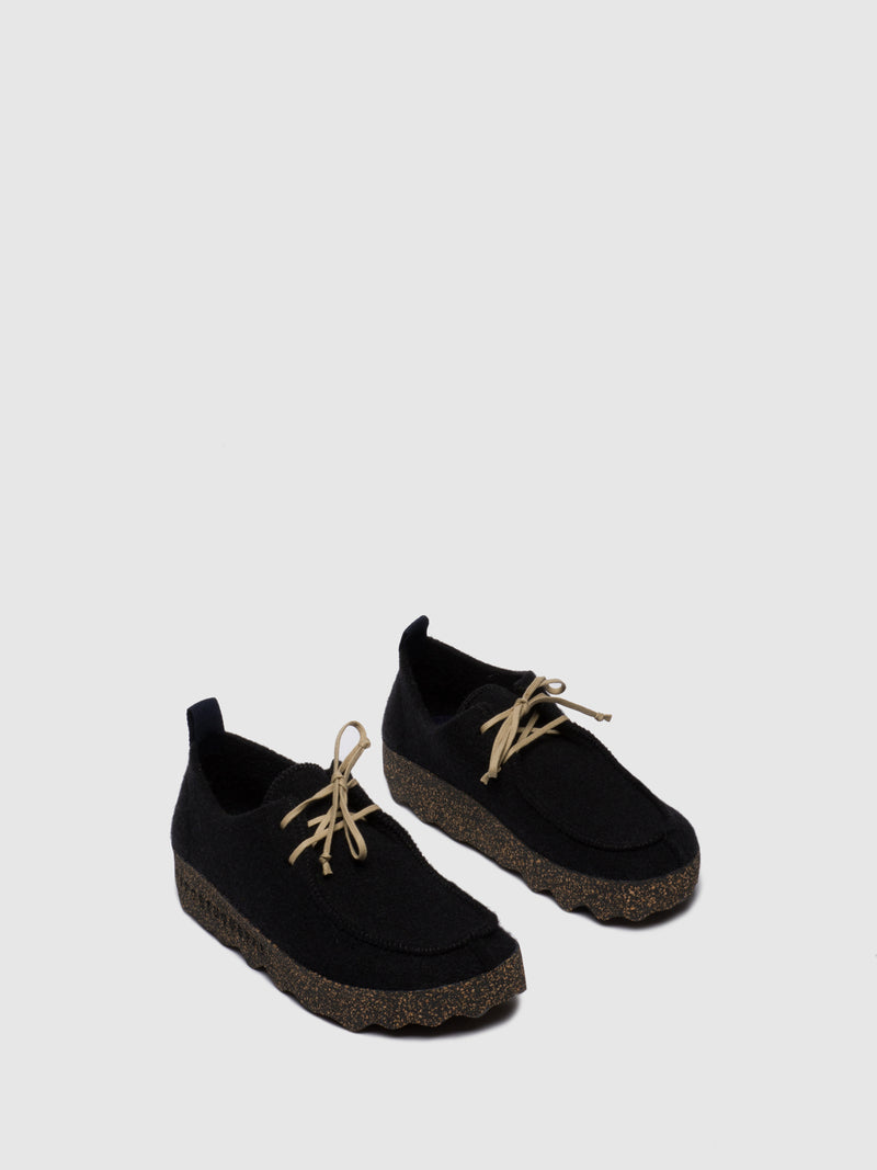 ASPORTUGUESAS Round Toe Shoes CHAT M Black