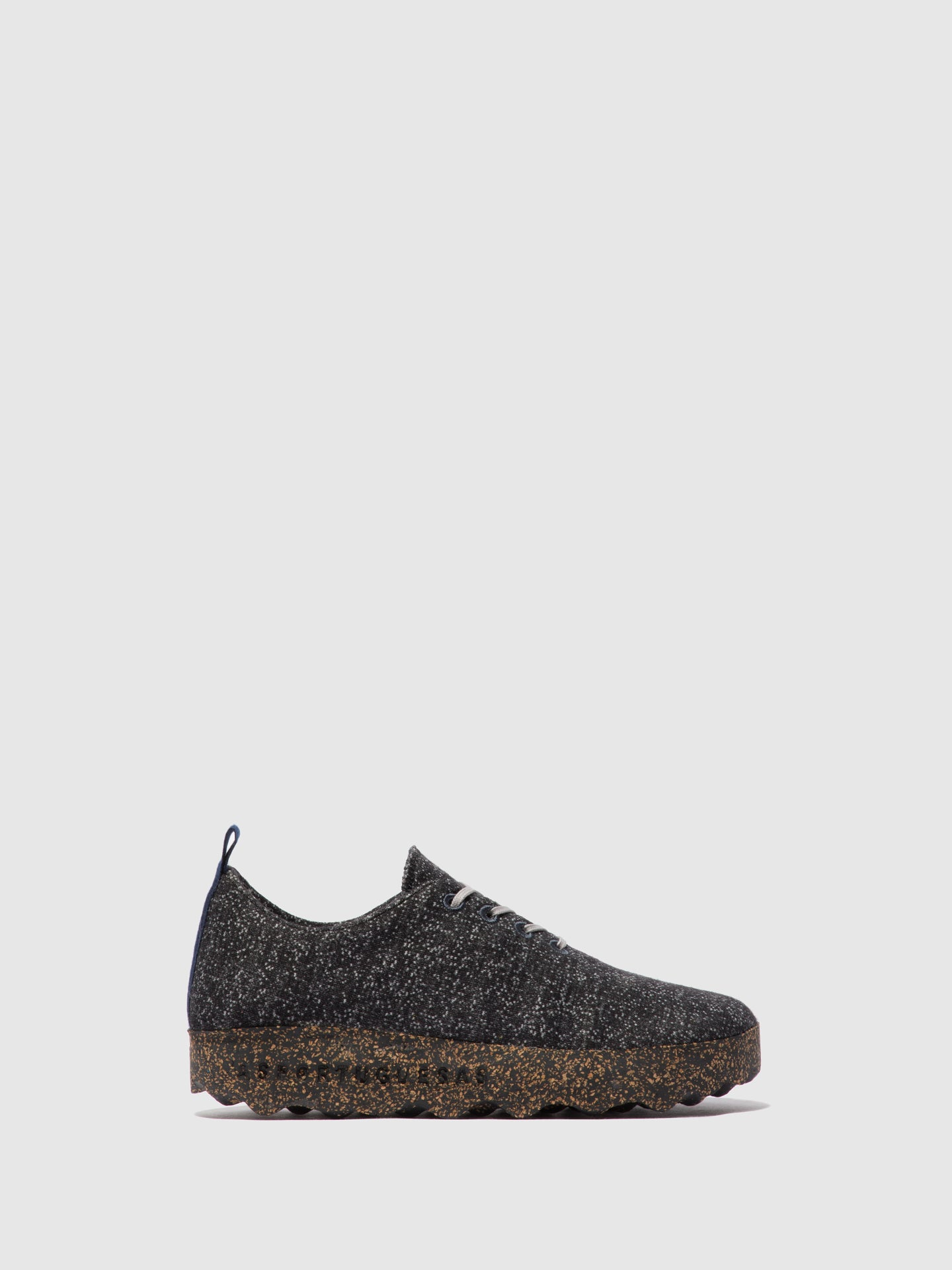 ASPORTUGUESAS Lace-up Trainers CAMP L Black Merino Wool