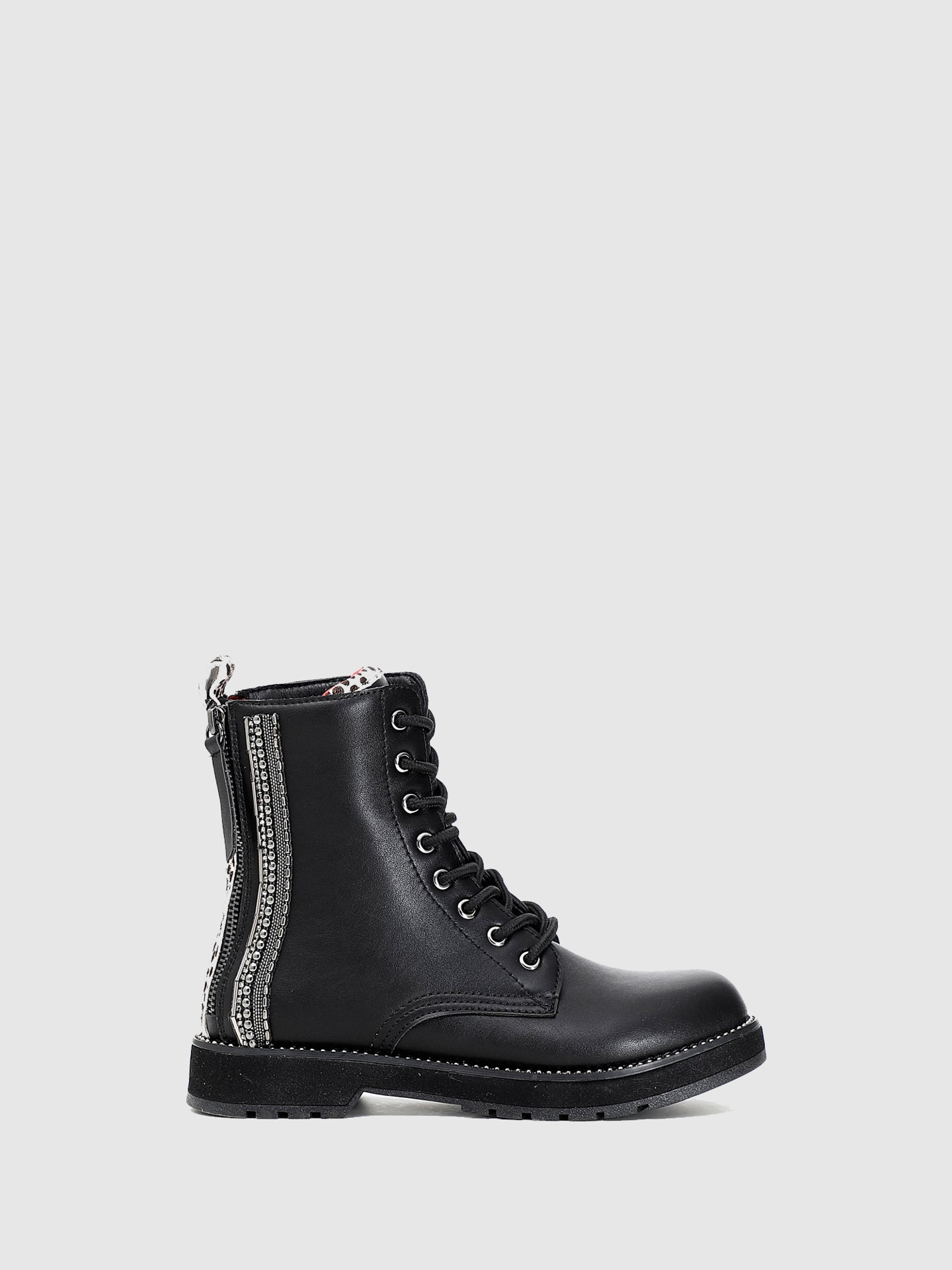 Cafè Noir Black Zip Up Boots