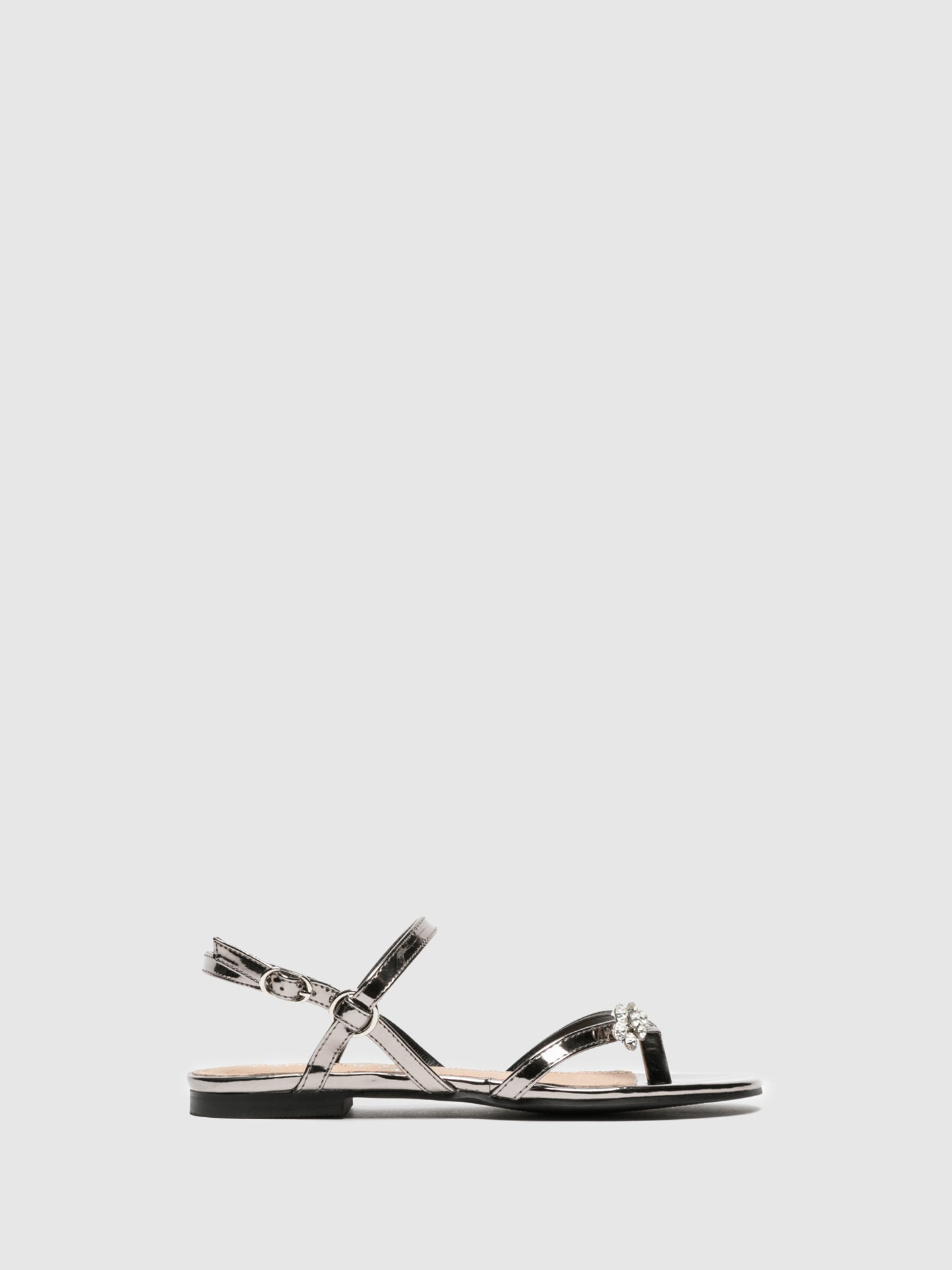 Cafè Noir Gray Buckle Sandals