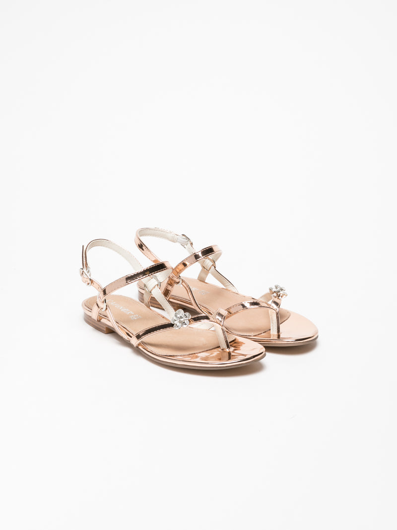 Cafè Noir DarkSalmon Buckle Sandals