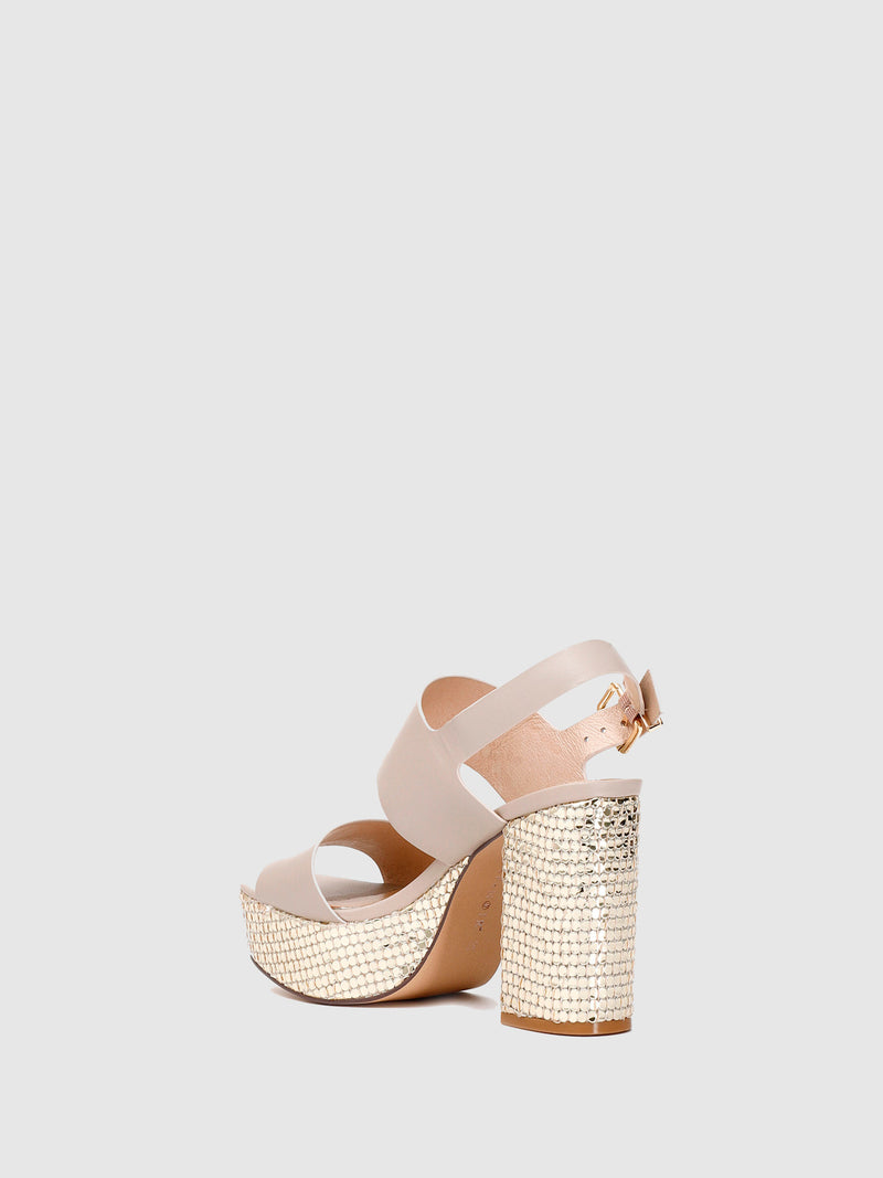 Wheat Ankle Strap Sandals