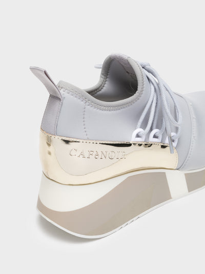 Cafè Noir Gray Wedge Trainers