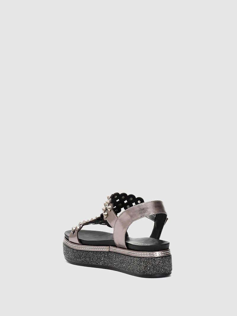 Gray Appliqués Sandals
