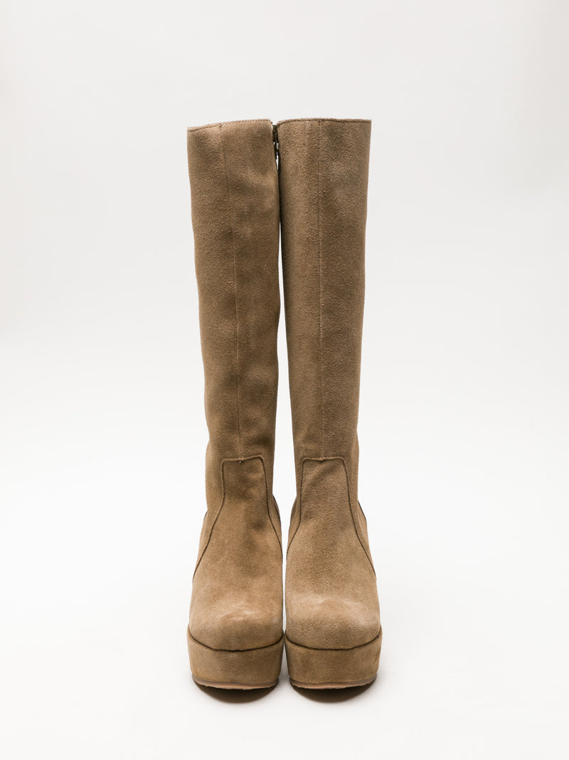 Tan Knee-High Boots