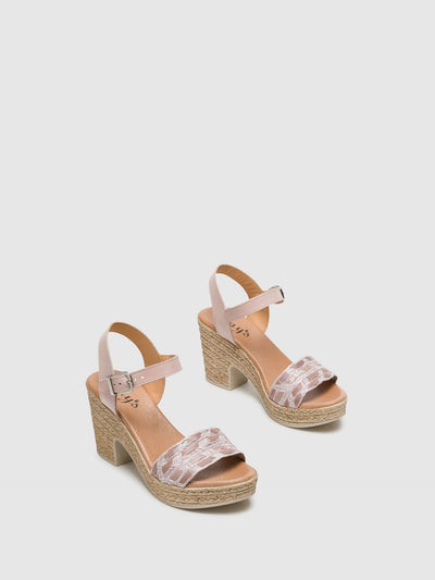 Clay's Beige Ankle Strap Sandals