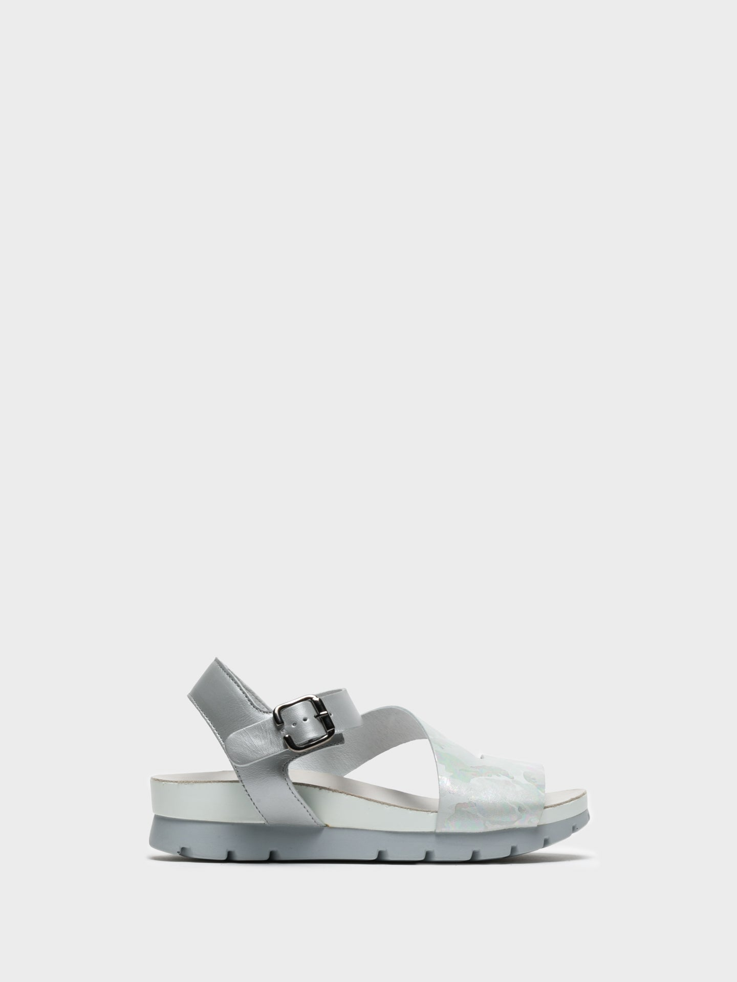 Camport Silver Buckle Sandals