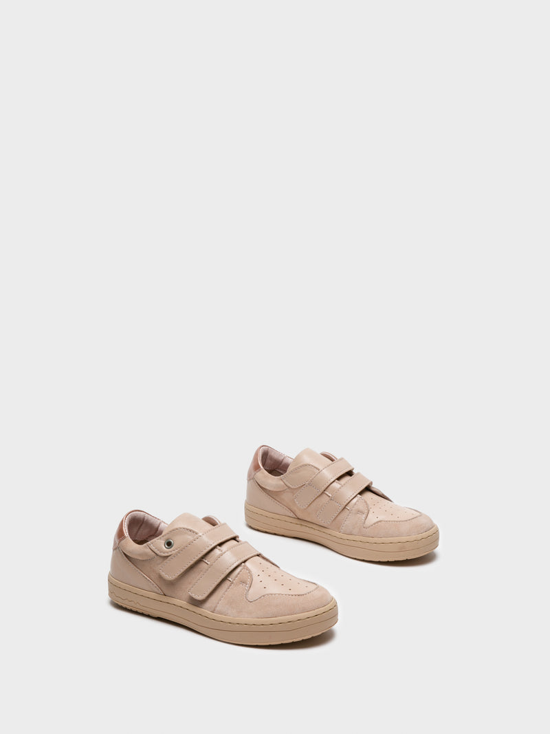 Camport Beige Velcro Trainers