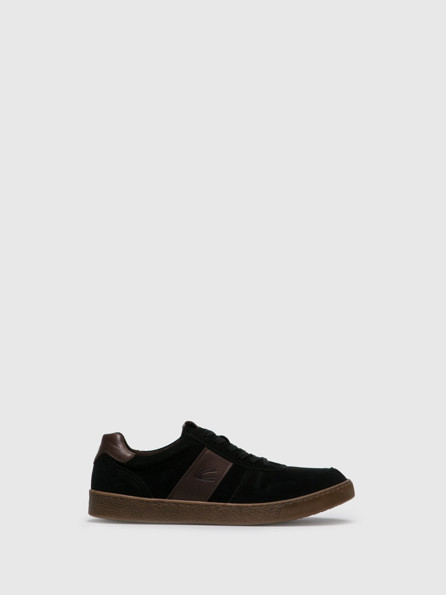 Camel Active Black Suede Lace-up Trainers