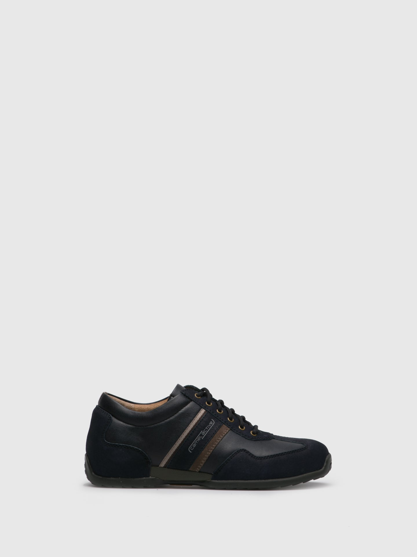 Camel Active Navy Leather Lace Fastening Shoes