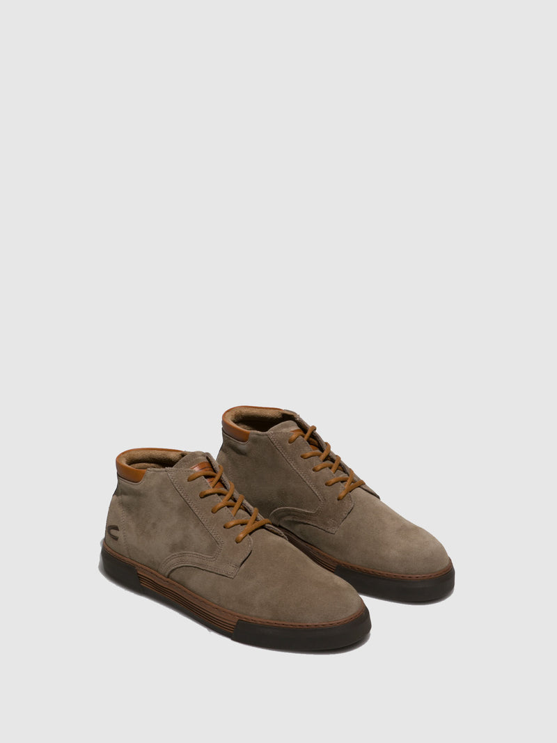 Camel Active Taupe Lace-up Ankle Boots