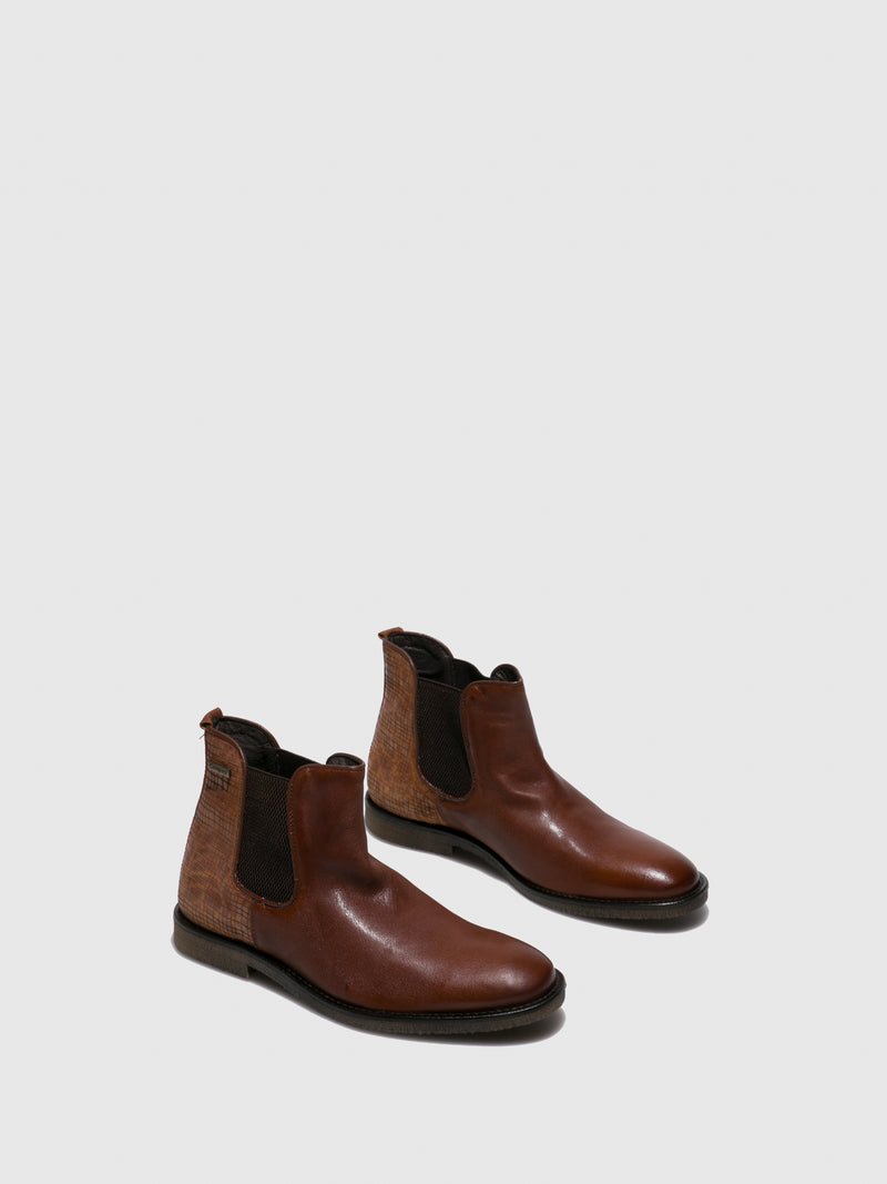 Camport Camel Chelsea Ankle Boots