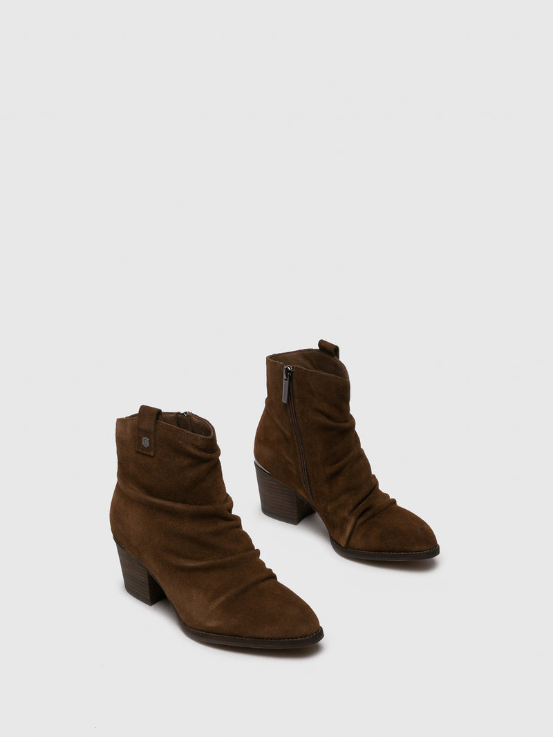 Camel Cowboy Ankle Boots