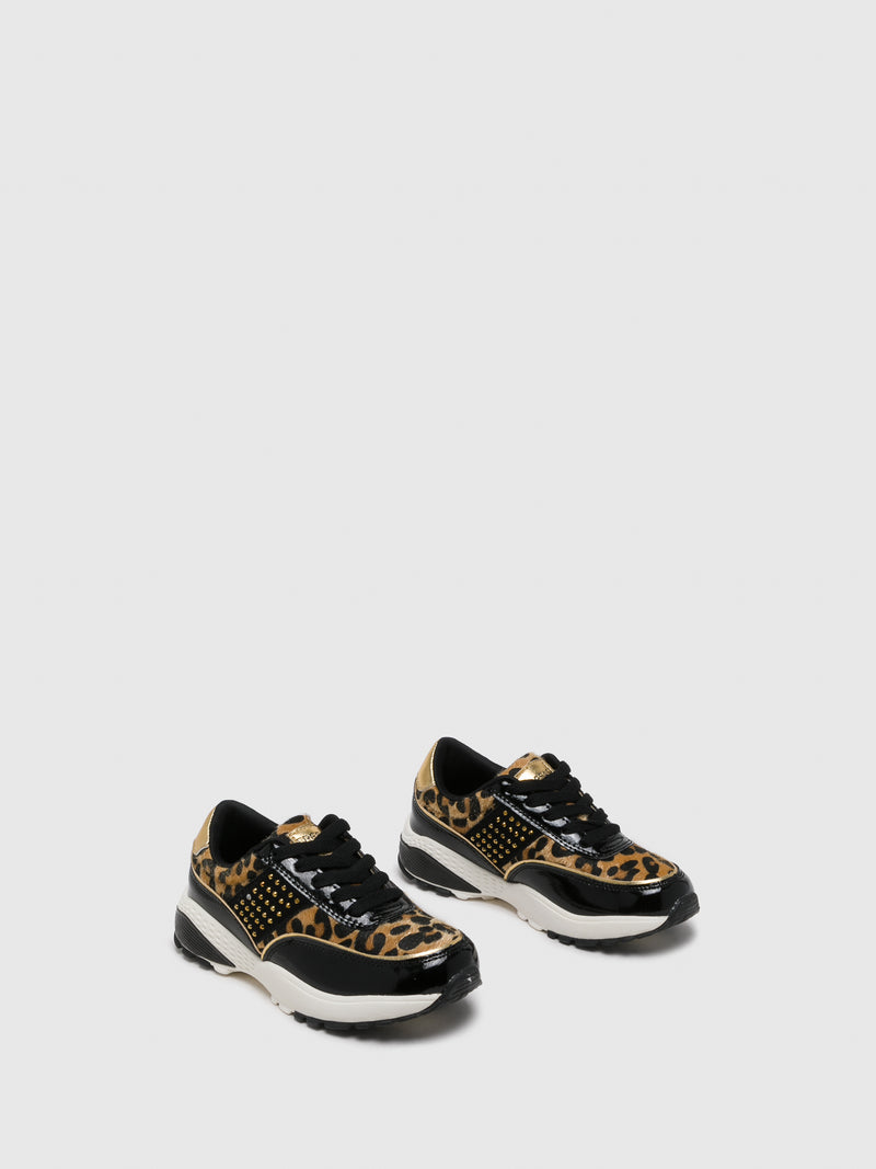 Conguitos Brown Black Lace-up Trainers
