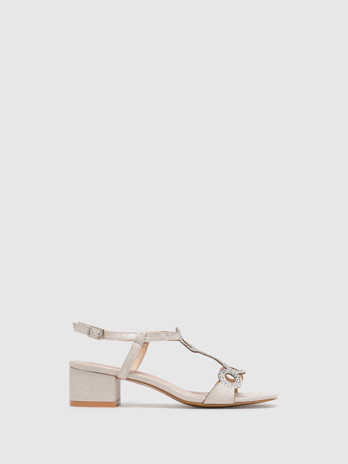 D'Angela Beige Buckle Sandals