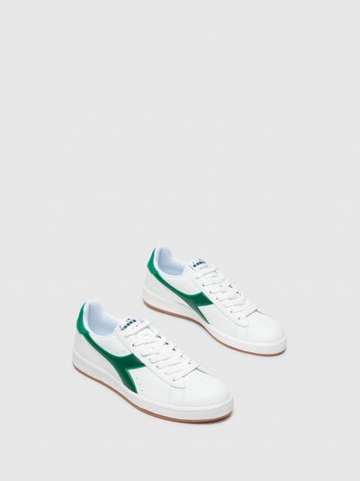 Diadora Green Lace-up Trainers