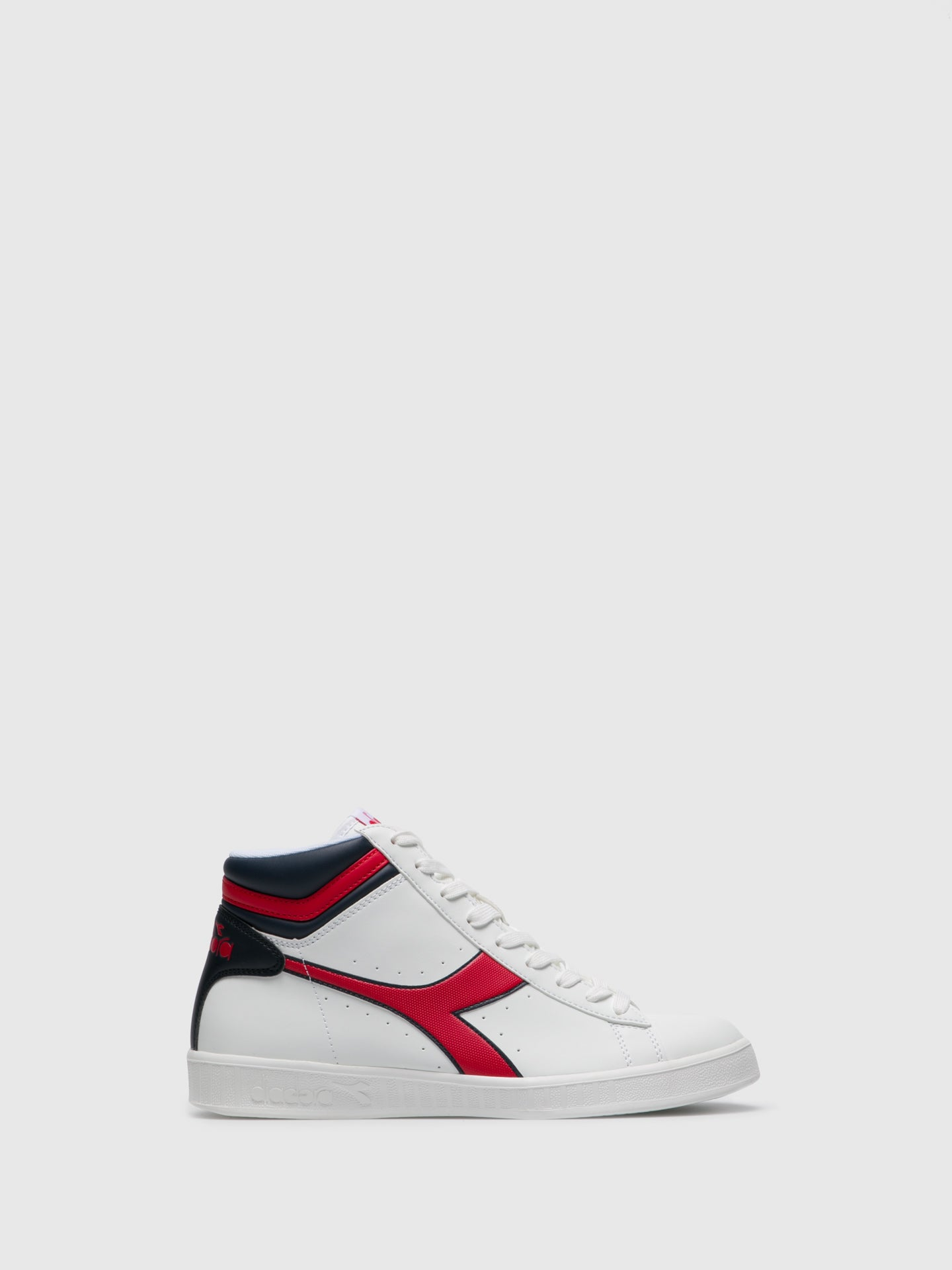 Diadora Red White Hi-Top Trainers