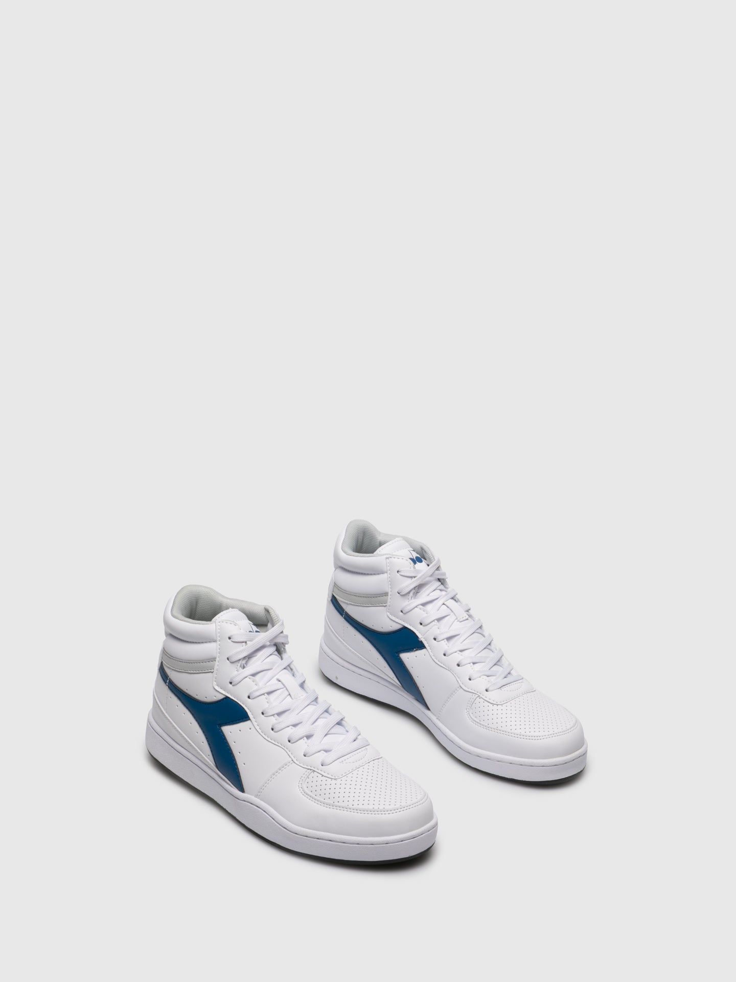 Diadora Blue White Hi-Top Trainers
