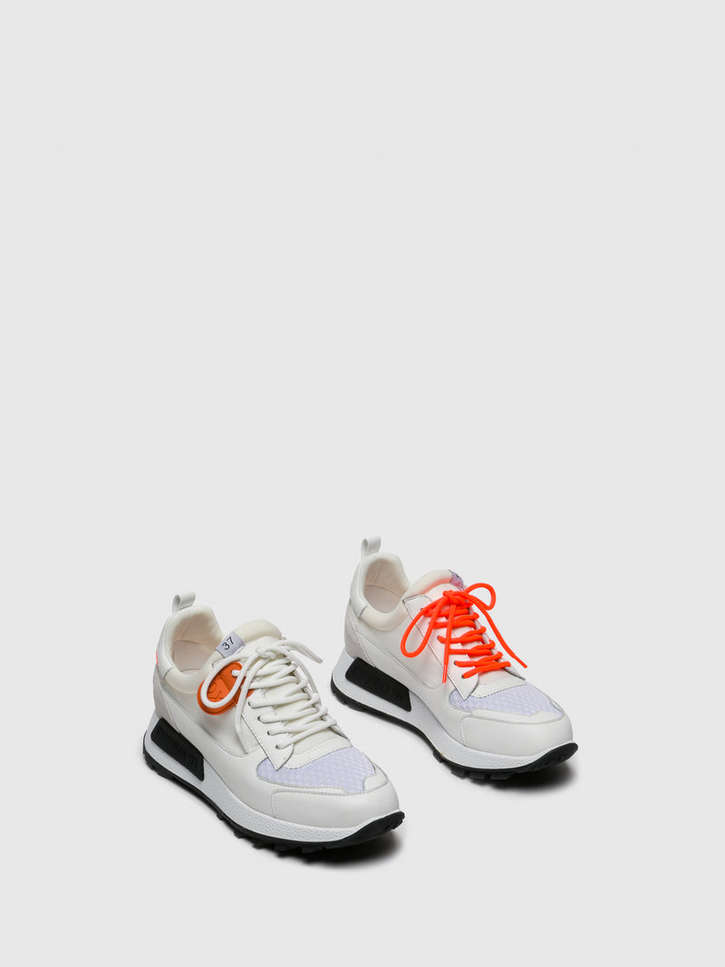 EMANUÉLLE VEE White Lace-up Trainers