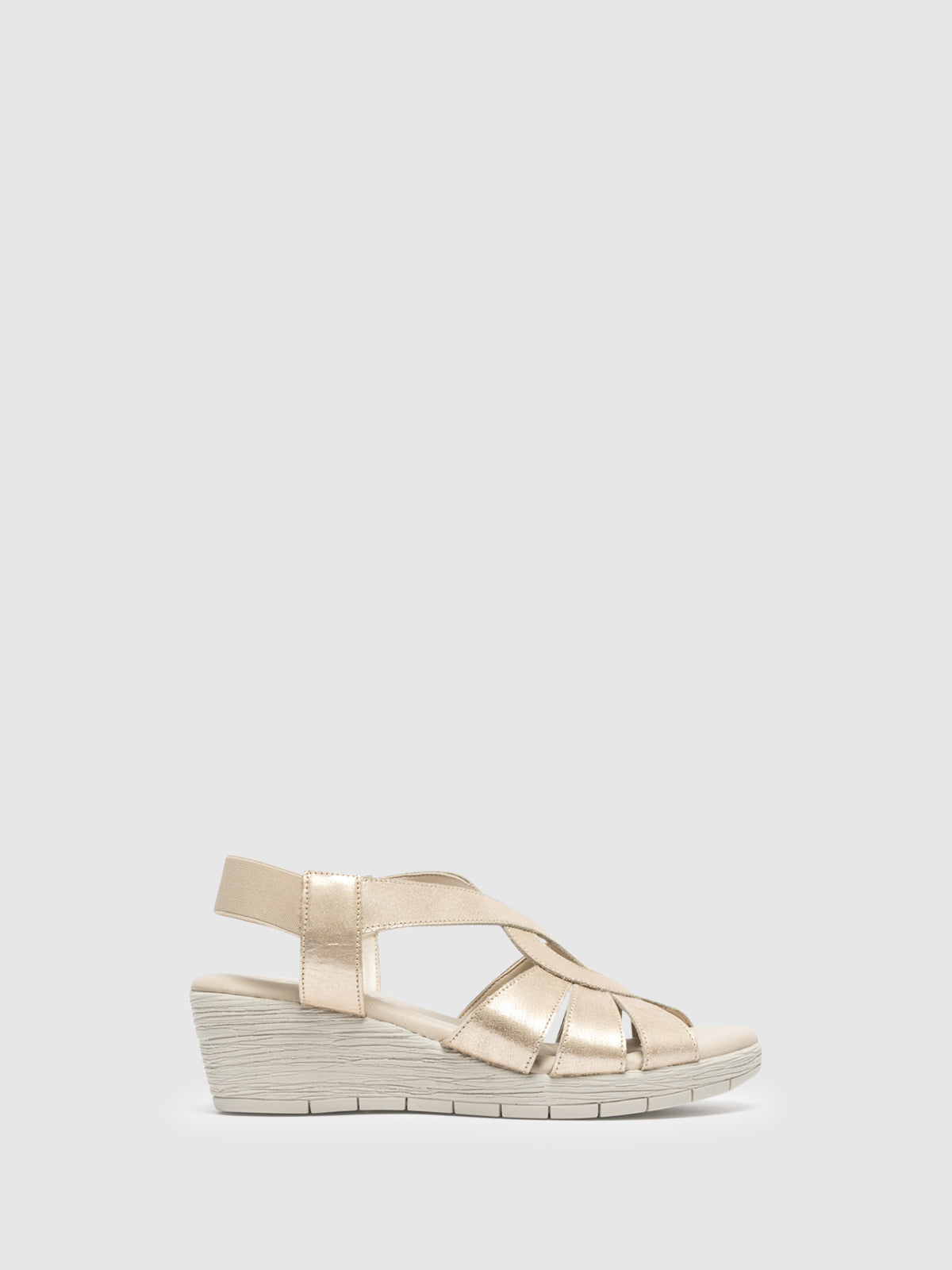 The Flexx Gold Wedge Sandals