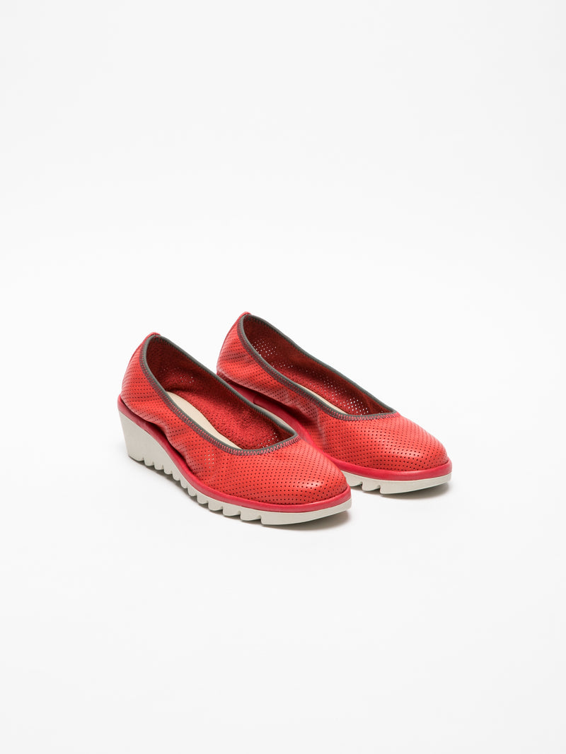 The Flexx Red Wedge Ballerinas