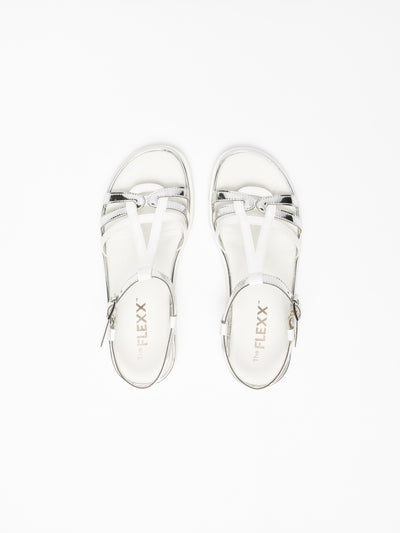 The Flexx Silver Sling-Back Sandals