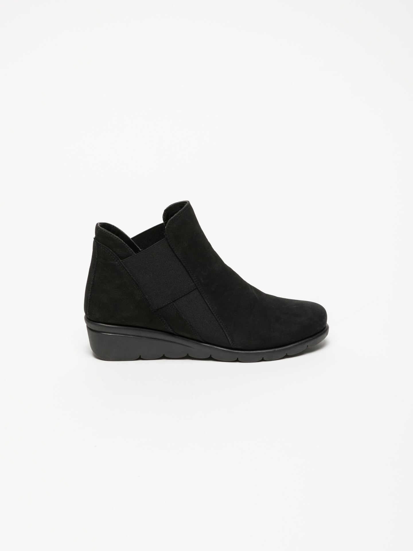 The Flexx Black Elasticated Ankle Boots