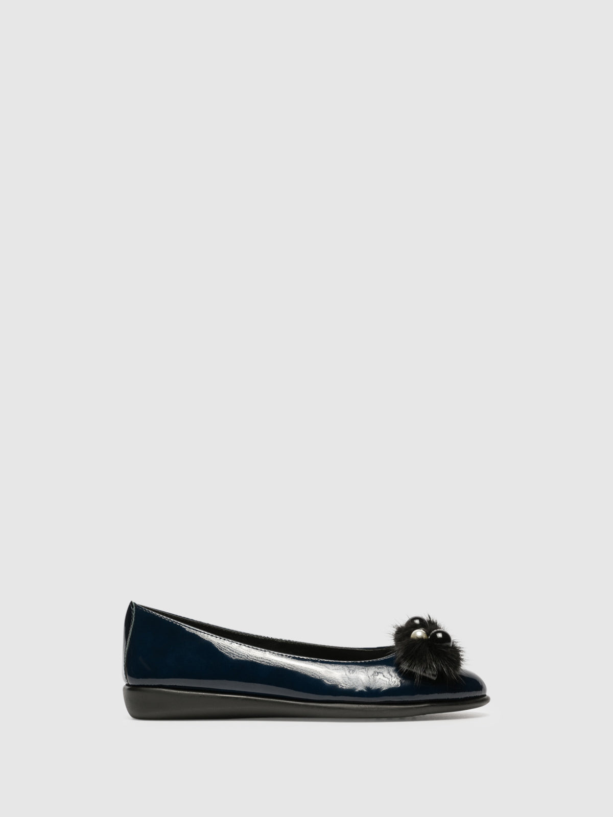 The Flexx Navy Patent Leather Ballerinas