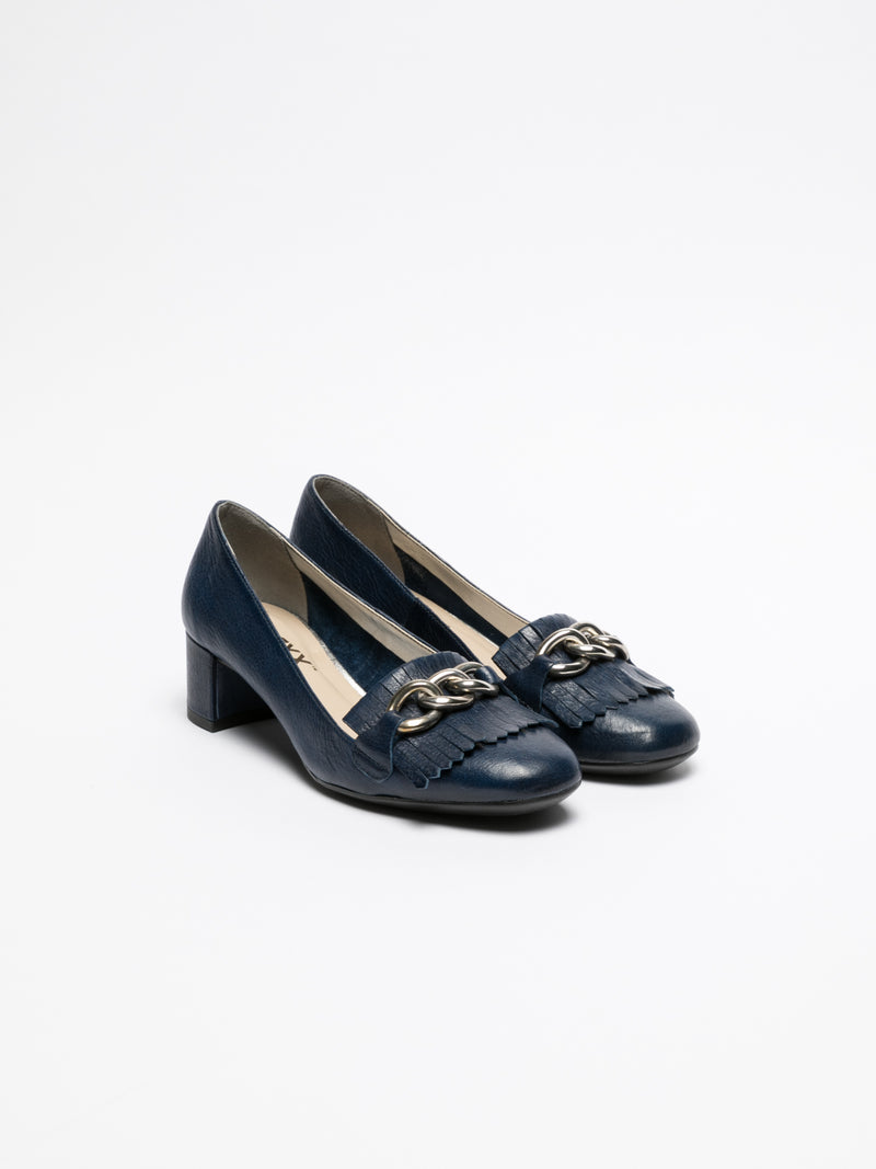 Navy Block Heel Shoes