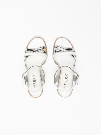 The Flexx Silver Buckle Sandals