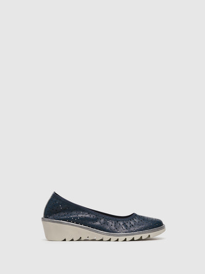 The Flexx Navy Wedge Shoes