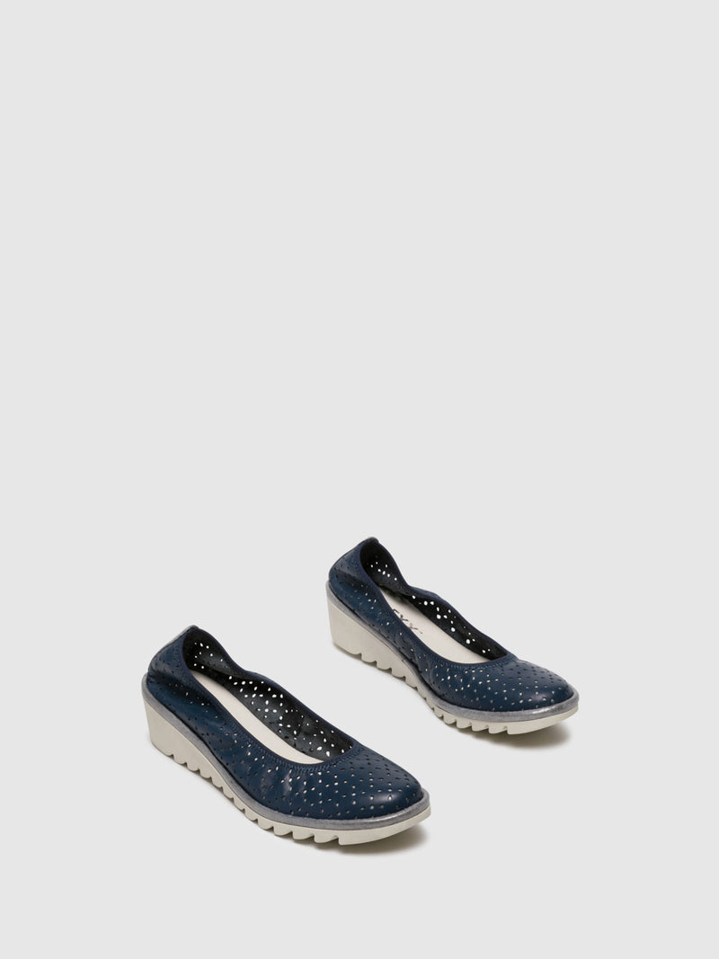 Navy Wedge Shoes