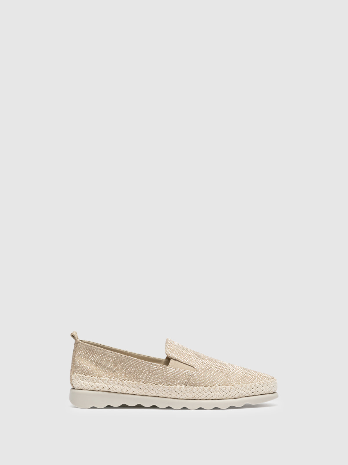 The Flexx Beige Slip-on Trainers