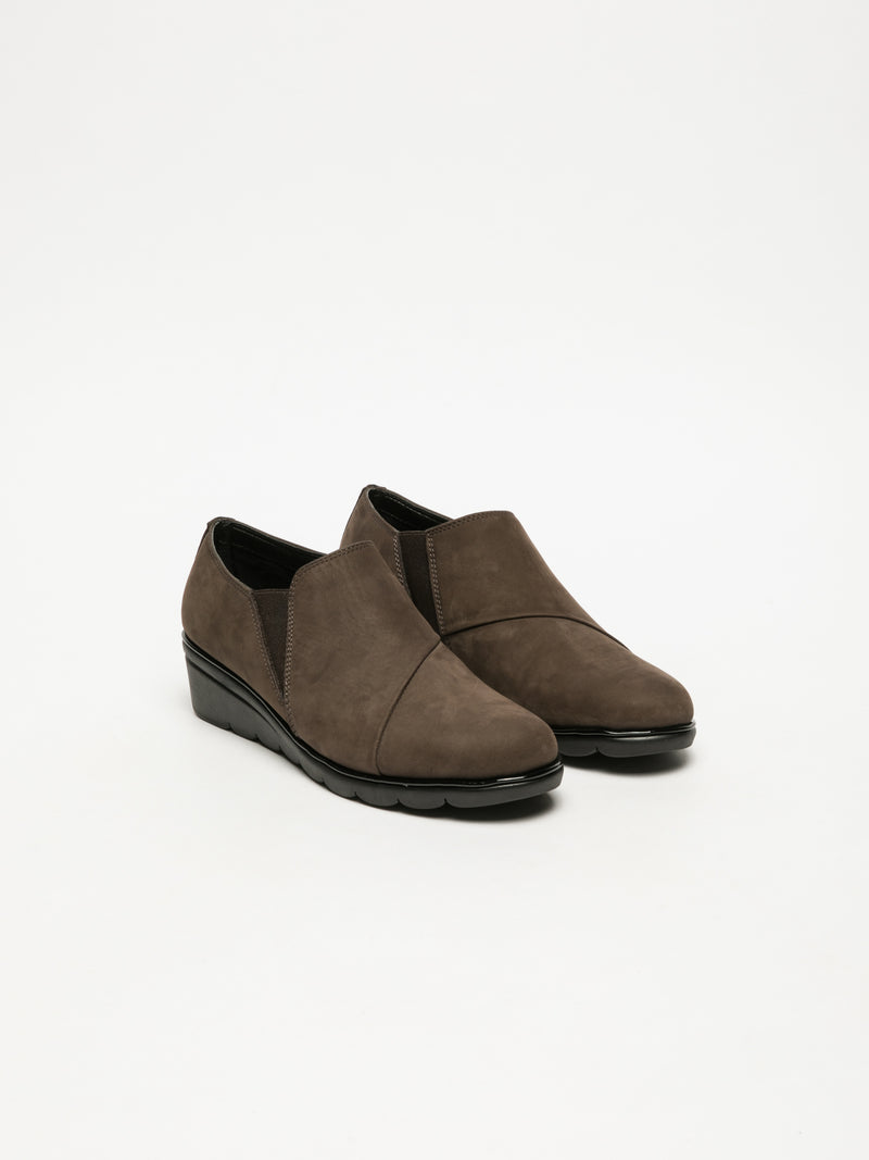 Brown Round Toe Shoes