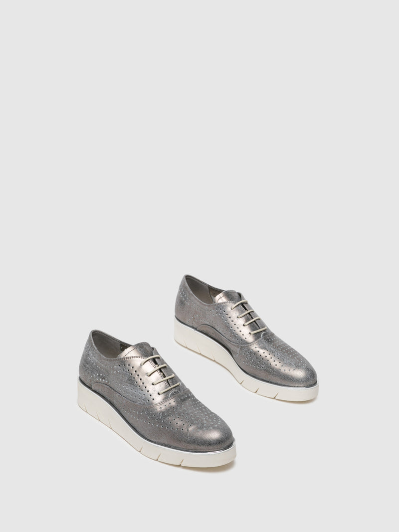 Silver Lace-up Shoes